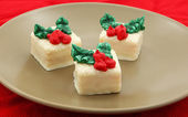 Holiday Petit Fours Set — Stock Photo