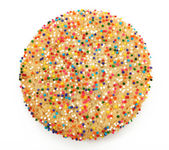Sugar Cookie With Sprinkles — Stock Photo