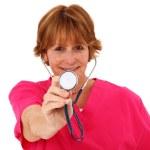 Nurse Holding Stethoscope — Stock Photo #23120978