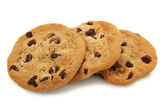 Trio Of Chocolate Chip Cookies — Stock Photo