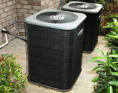 Residential Cental Air Conditioning Unit — 图库照片