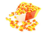Candy Corn in Dish — Stock Photo