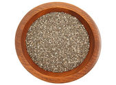 Chia Seeds In Bowl — Stock Photo