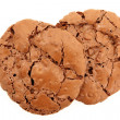Top Down View Of Pair Of Chocolate Chewy Cookies — Stock Photo #34108517