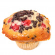 Cherry Chocolate Chip Muffin On White — Stock Photo #34108531