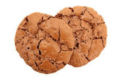 Top Down View Of A Pair Of Chocolate Chewy Cookies — Stock Photo