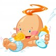 Baby with a milk bottle — Stock Vector #22814968