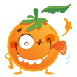 Crazy orange character — Stock Vector #23119810