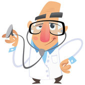 Cartoon doctor — Stock Vector