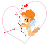 Cupid with bow — Stock Vector