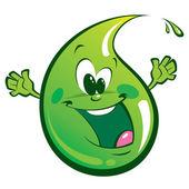зеленый счастливы падение — Cтоковый вектор
