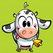 Cartoon cute baby cow — Stock Photo