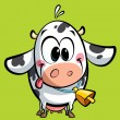 Cartoon cute baby cow - Stock Photo