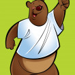 Cartoon grizzly Bear — Stock Photo