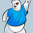 Cartoon polar bear — Stockfoto