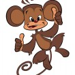 Cartoon happy monkey - Stock Photo