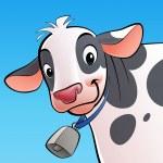 úsměvem kráva s Snílku — Stock fotografie