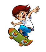 Boy skating — Stock Photo