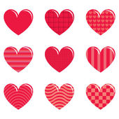 9 hearts — Stock Photo