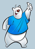 Cartoon polar bear — Stock Photo