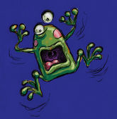 Freaked out frog — Stock Photo