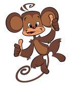 Cartoon happy monkey — Stock Photo