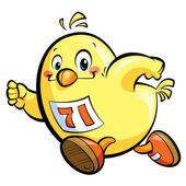 Running chicken — Stock Photo