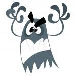 fantasma del miedo de la historieta — Vector de stock  #23120020