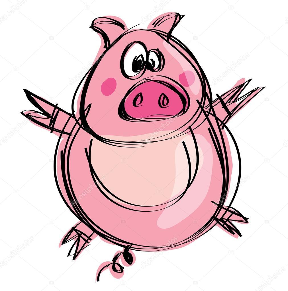 Baby Cartoons Funny Cartoon Funny Naif Baby Pig in