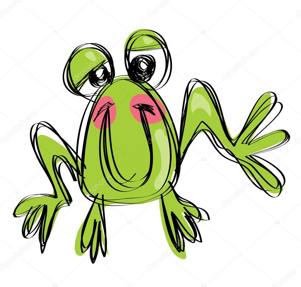 Cartoon Babies Smiling Cartoon Funny Baby Frog in a