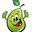 Royalty-Free Stock Photo: Happy cartoon pear making an ok gesture