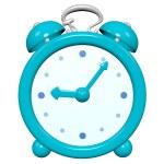 reloj turquesa 3d Cartoon — Foto de Stock