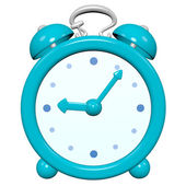 Cartoon 3D turquoise clock — Stock Photo