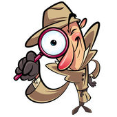 Detective search — Stock Vector