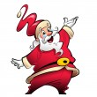 Stock Photo: Happy smiling SantClaus cartoon character presenting and wishi