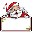 Stock Photo: Happy smiling SantClaus cartoon character presenting message o