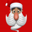 Cartoon Christmas Santa Claus character head — ストック写真