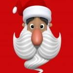 dibujos animados Navidad cabeza de personaje de santa claus — Foto de Stock