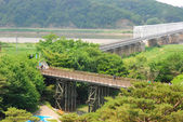 Freedom bridge DMZ, Korea. — Stock Photo