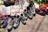 Boston Marathon bombing memorial — Stock Photo
