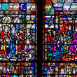 Mosaic window in Trinity Church — Stock Photo