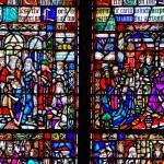 Mosaic window in Trinity Church — Stock Photo