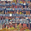 Rows of houses in Back Bay, Boston — Stock Photo