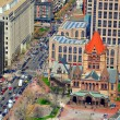 Trinity Church with Boston traffic — Stock Photo