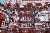 Religious carving, Trinity Church — Stock Photo