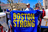 Boston Marathon bombing Memorial, USA — Stock Photo