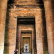 Edfu temple columns — Stock Photo