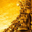 Golden Buddhist carving, Myanmar — Stock Photo