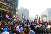 Masiva manifestación, el cairo, egipto — Foto de Stock