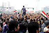 Massiv demonstration, kairo, egypten — Stockfoto